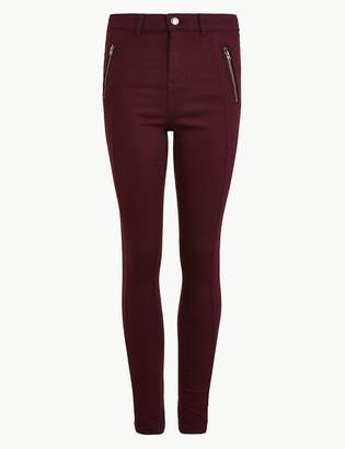 M&S CollectionMarks and Spencer Cotton Rich Skinny Leg Trousers