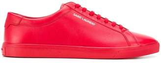 Saint Laurent logo basketball sneakers