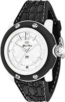 Glam Rock Women's Miami Beach 40mm Black Silicone Band Polycarbonate Case Quartz White Dial Watch GR2302