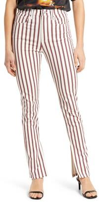WeWoreWhat Stiletto Stripe High Waist Skinny Jeans