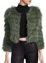 Alice + Olivia Fawn Rabbit & Fox Fur Jacket
