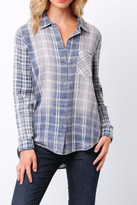 Paper Crane Faded Plaid Shirt