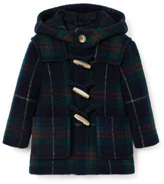 Il Gufo Tartan Hooded Coat (3-12 Years)