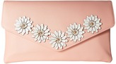 Jessica McClintock Arielle Flower Applique Envelope Clutch Clutch Handbags