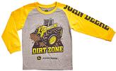 John Deere Gray & Construction Yellow 'Dirt Zone' Long-Sleeve Tee - Boys