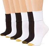 Gold Toe GoldToe 6-pk. Turn-Cuff Crew Socks