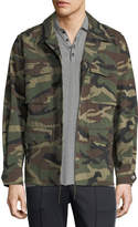 Vince Camouflage-Print Military Jacket