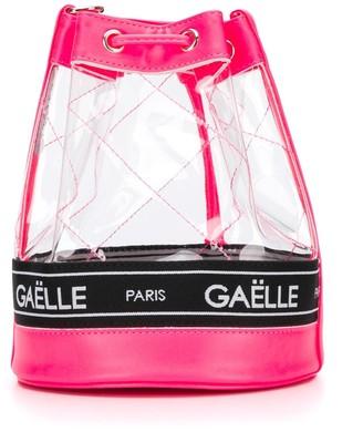 Gaelle Paris Kids diamond stitch PVC bucket bag