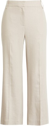 1901 Crop Wide Leg Linen Blend Pants