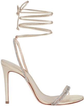 Schutz Cauani Crystal Wrap Sandals