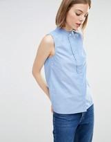 Warehouse Ruffle Detail Sleeveless Shirt