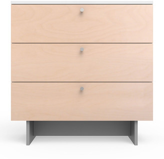 "Spot On Square Roh 34"" Dresser, White/Birch"