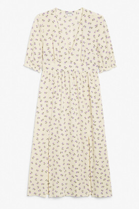 Monki Puff sleeve maxi dress