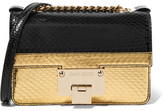 Jimmy Choo Rebel Soft Mini Metallic Elaphe Shoulder Bag - Gold