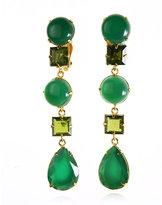 Bounkit Green Onyx & Peridot Long Earrings
