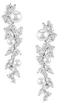 Nadri Heaven Cubic Zirconia & Faux-Pearl Linear Drop Earrings