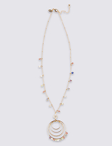 M&S Collection Triple Beaded Tassel Necklace