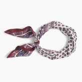 J.Crew Large Italian silk square scarf in floral paisley print