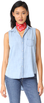 Frank And Eileen Fiona Sleeveless Button Down