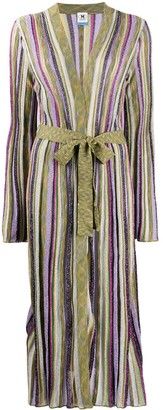M Missoni Striped Tie-Waist Cardigan