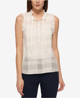 Tommy Hilfiger Sheer Lace Blouse