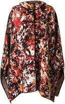 M Missoni hooded poncho - women - Polyamide/Viscose/Wool - S