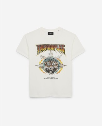 The Kooples Loose white T-shirt in cotton w/screen print
