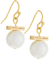 Rebecca Minkoff 12k Gold-Plated Small Pearly Bead Drop Earrings