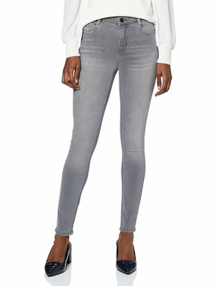 Dorothy Perkins Women's Grey Regular Length Shape and Lift Jeans 22