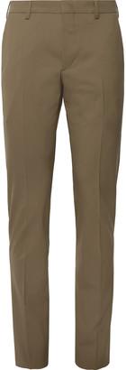 Prada Black Slim-Fit Stretch-Virgin Wool Trousers