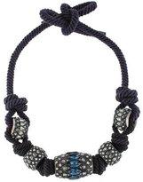 Lanvin Crystal Embellished Rope Necklace