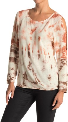 Wit & Wisdom Tie Dye Cold Shoulder Sweater