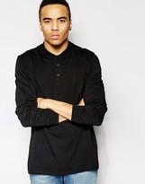Asos Long Sleeve Polo Shirt In Jersey