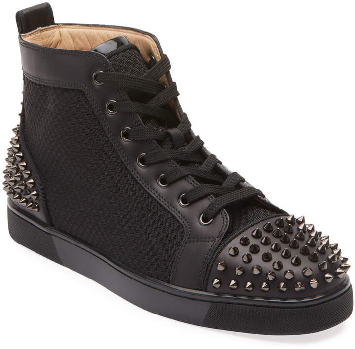 release date: 7f418 6a054 Men's Lou Spiked Leather High-Top Sneakers