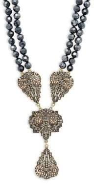 Heidi Daus Dramatic Beaded Pendant Necklace