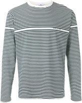 Stone Island striped logo print long sleeve top - men - Cotton - S