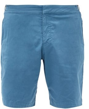 Orlebar Brown Dane Ii Cotton-blend Twill Shorts - Blue