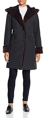 Jane Post Storm Faux Fur Trim Coat