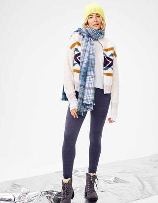 AE Studio Fuzzy Zip Up Sweater