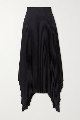 Joseph Ade Asymmetric Plisse-crepe Midi Skirt - Black