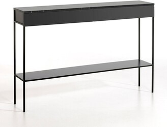 Am.pm. FEBEE Marble Top & Metal Console Table