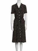 Thumbnail for your product : HVN Silk Midi Length Dress Black