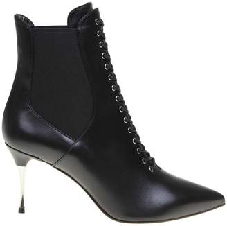 Sergio Rossi Black Leather Ankle Boot