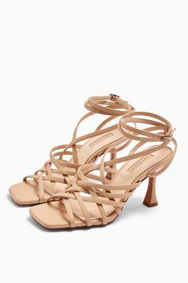Topshop Womens Rhapsody Nude Leather Strappy Sandals - Nude