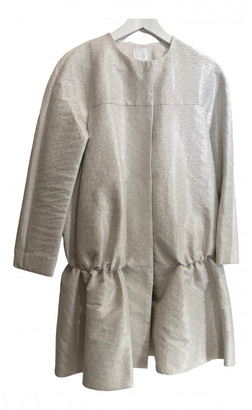 Cos White Cotton Coats
