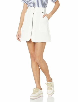 The Fifth Label Women's High Rise Zip-Up Faded Mini Skirt