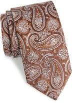 David Donahue Men's Paisley Silk Tie
