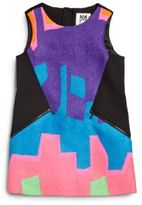 Milly Little Girl's Neon Puzzle Jacquard Dress