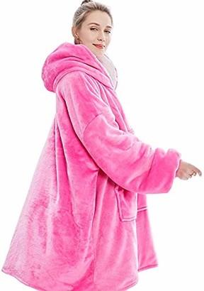 Auyuiiy Oversized Sherpa Hoodie Wearable Hoodie Sweatshirt Blanket Super Soft Warm Comfortable Blanket Hoodie
