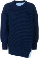 Cédric Charlier patchwork knit jumper